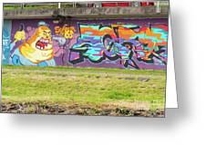 Graffiti Under A Bridge Greeting Card