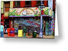 Graffiti Village Store Nyc Greenwich  Greeting Card