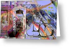 Graffitis Front Door Greeting Card