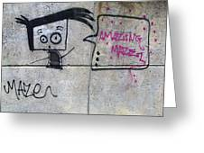 Graffitti Greeting Card