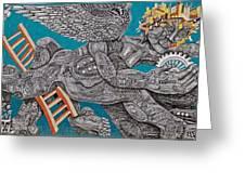 Grafitti Angel Greeting Card