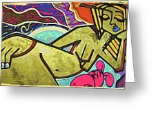 Grafitti Curves Greeting Card