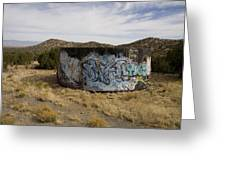 Grafitti In The Middle Of Nature Greeting Card