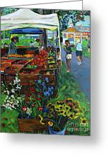 Grafton Farmer's Market Greeting Card by Allison Coelho Picone