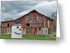 Grain Bin With Smile Greeting Card