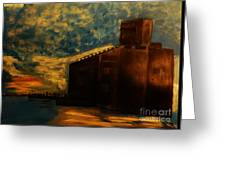 Grain Elevator On Lake Erie From A Photo By Nicole Bulger Greeting Card by Marie Bulger