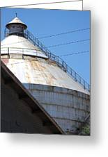 Grain Silo In Roswell Greeting Card