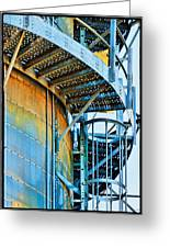 Grain Tower Stairs Greeting Card