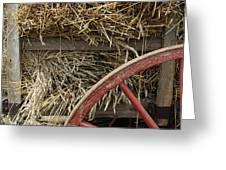 Grain Wagon Greeting Card