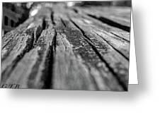 Grains Of Wood Greeting Card