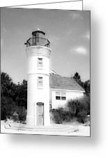 Grainy Lighthouse Greeting Card