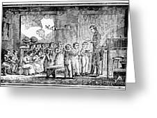 Grammar School, 1790s Greeting Card
