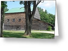 Grammie's Barn Through The Trees Greeting Card