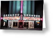 Granada Marquee Dallas Greeting Card