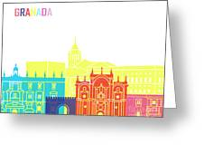 Granada Skyline Pop Greeting Card