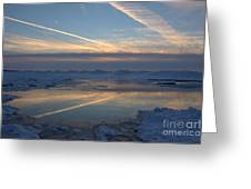 Grand Bend Winter Reflections 2 Greeting Card