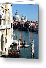 Grand Canal In Venice From Accademia Bridge Greeting Card by Michael Henderson