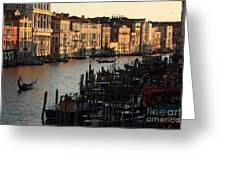 Grand Canal In Venice From The Rialto Bridge Greeting Card