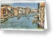 Grand Canal In Venice Greeting Card