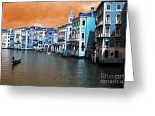 Grand Canal Pop Art Greeting Card