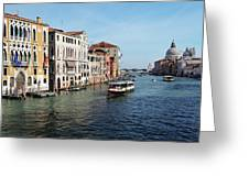Grand Canal View At The Academy Bridge Greeting Card
