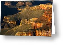 Grand Canyon Arizona Light And Shadow 1 Greeting Card