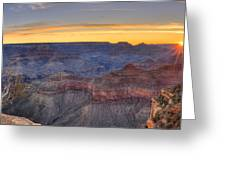 Shimmering Warmth In Panoramic Greeting Card