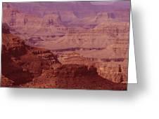 Grand Canyon Distances Greeting Card