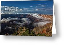 Grand Canyon Fog Greeting Card