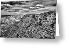 Grand Canyon In Black And White Greeting Card