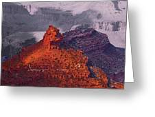 Grand Canyon In Red And Blue Greeting Card by Viktor Savchenko