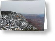 Grand Canyon In Snow Greeting Card