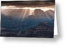 Grand Canyon Morning Light Show Pano Greeting Card