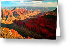 Grand Canyon National Park Sunset On North Rim Greeting Card