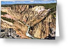 Grand Canyon Of The Yellowstone 1 Greeting Card