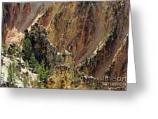Grand Canyon Of The Yellowstone From North Rim Drive Greeting Card