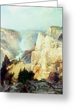 Grand Canyon Of The Yellowstone Park Greeting Card by Thomas Moran