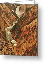 Grand Canyon Of The Yellowstone Vertical Panorama Greeting Card