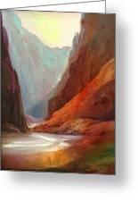 Grand Canyon Rafting Greeting Card