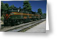 Grand Canyon Railway Train Greeting Card