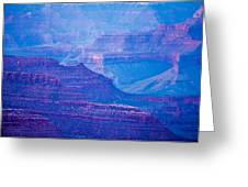 Grand Canyon Sunny Day With Blue Sky Greeting Card