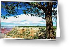 Grand Canyon View From South Rim Overlook Greeting Card