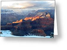 Grand Canyon With Snow Greeting Card