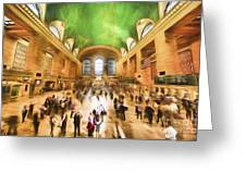 Grand Central Rush     Go2 Greeting Card