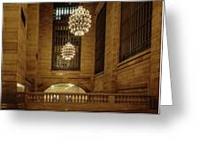 Grand Central Terminal Light Reflections Greeting Card