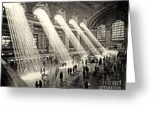 Grand Central Terminal, New York In The Thirties Greeting Card