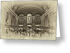 Grand Central Terminal Vintage Greeting Card