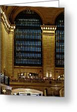 Grand Central Terminal Window Details Greeting Card