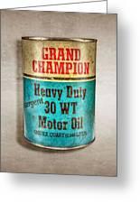 Grand Champion Motor Oil Greeting Card