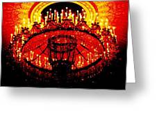 Grand Chandelier Greeting Card